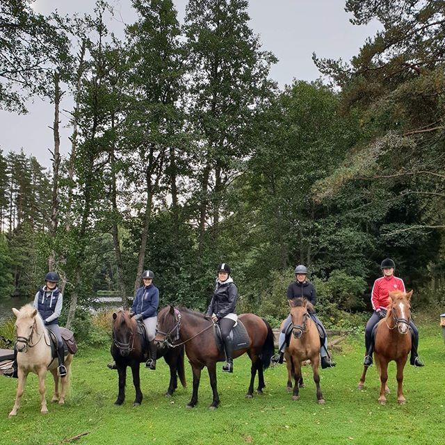 När man får umgås med sina fina vänner på en långtur ute i skogen en fin höstdag #kvalitetstid #välbehövligt #finavänner #islandshäst #turridning #kyrkekvarn #examenspresent