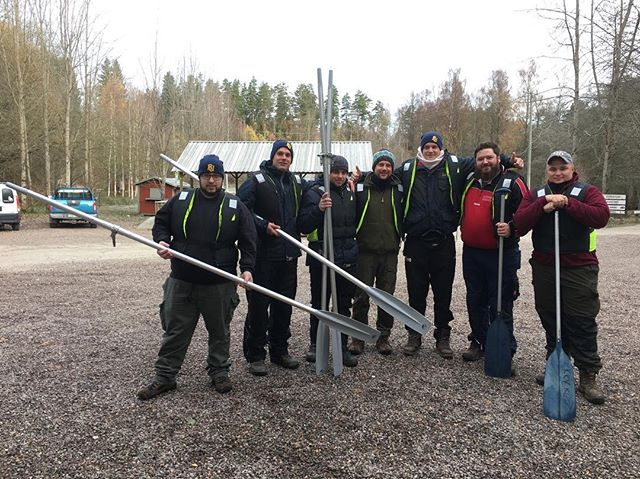 Some happy german guys who went off for a day of fishing this morning, despite the temperature werr slightly over 0 degrees ️️
