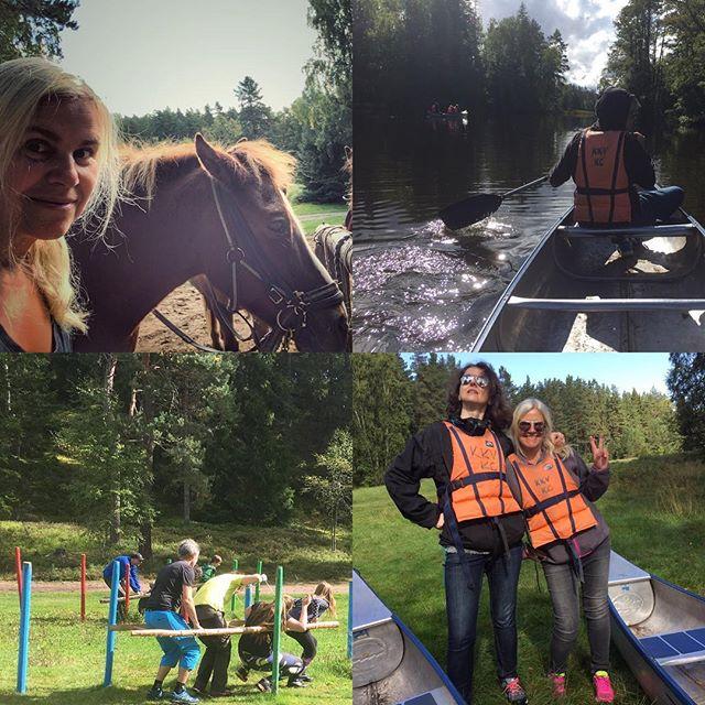 Utflykt med Dhb västra.  #islandshäst #kanot #teckenspråk #dhbvästra #kyrkekvarn #mångkamp #september #turridning #paddling #föreningsliv